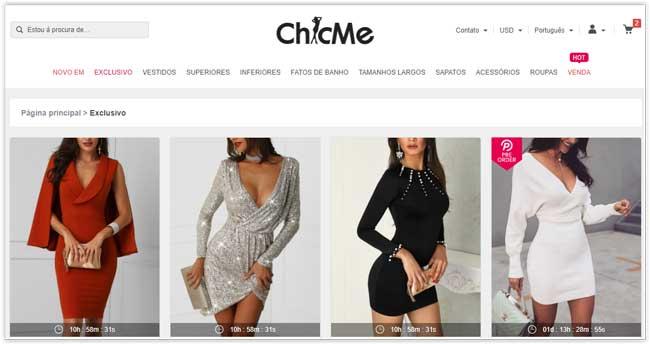 Chicme - Sites chinês de roupas baratas