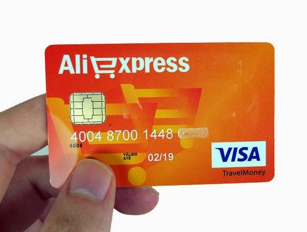 cartão pré-pago Visa Aliexpress