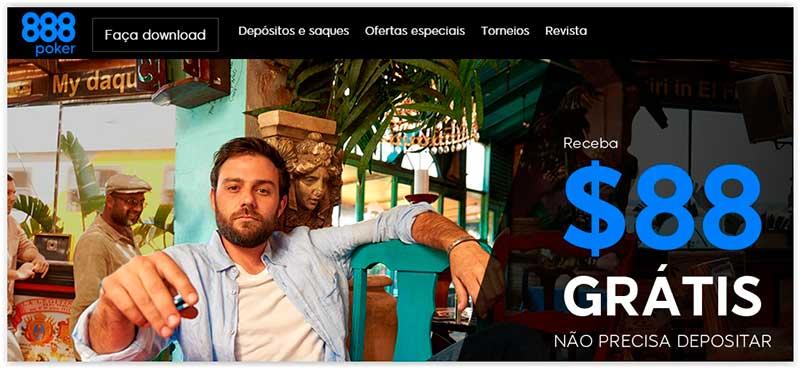 homepage do site de apostas 888 Poker