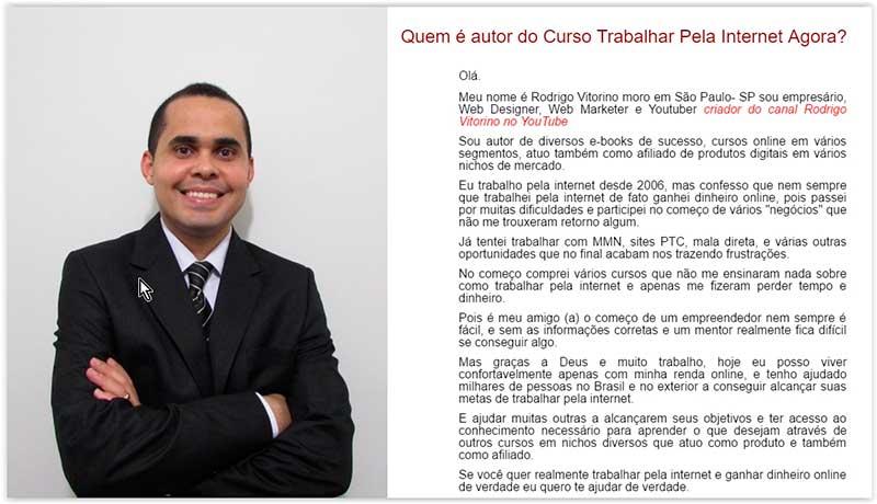 Trabalhar pela Internet Agora Rodrigo Vitorino