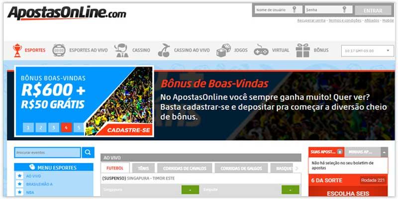 Melhor site de apostas online